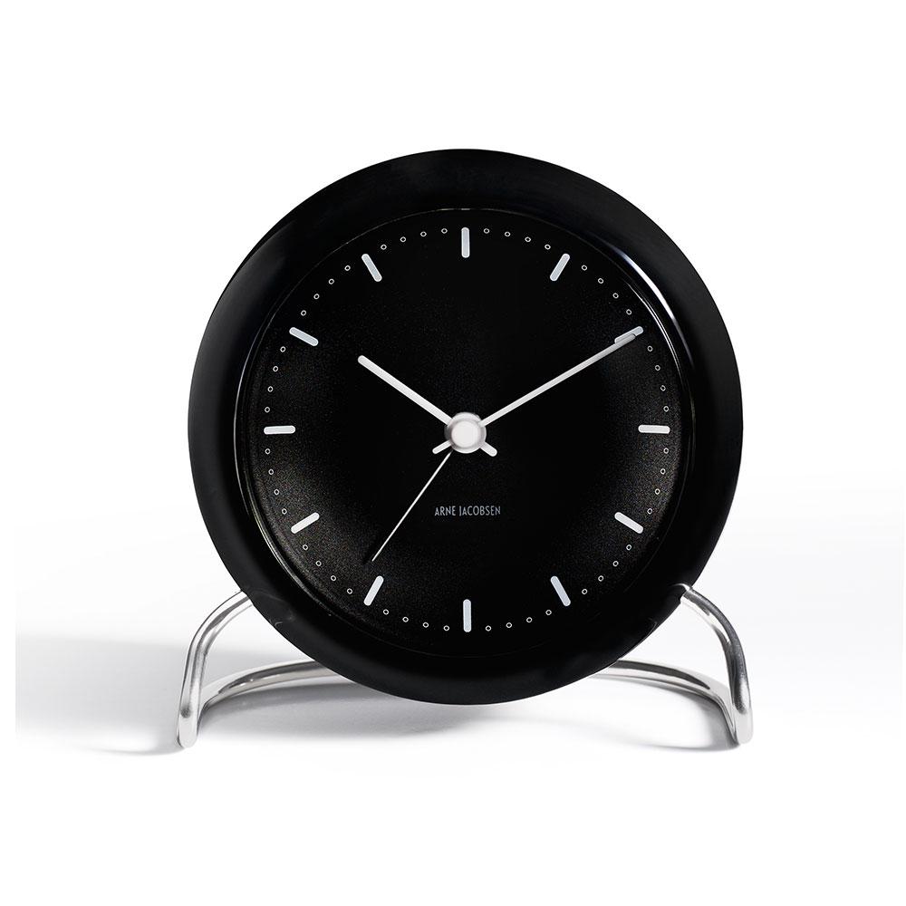 AJ Reloj de mesa con alarma, Negro