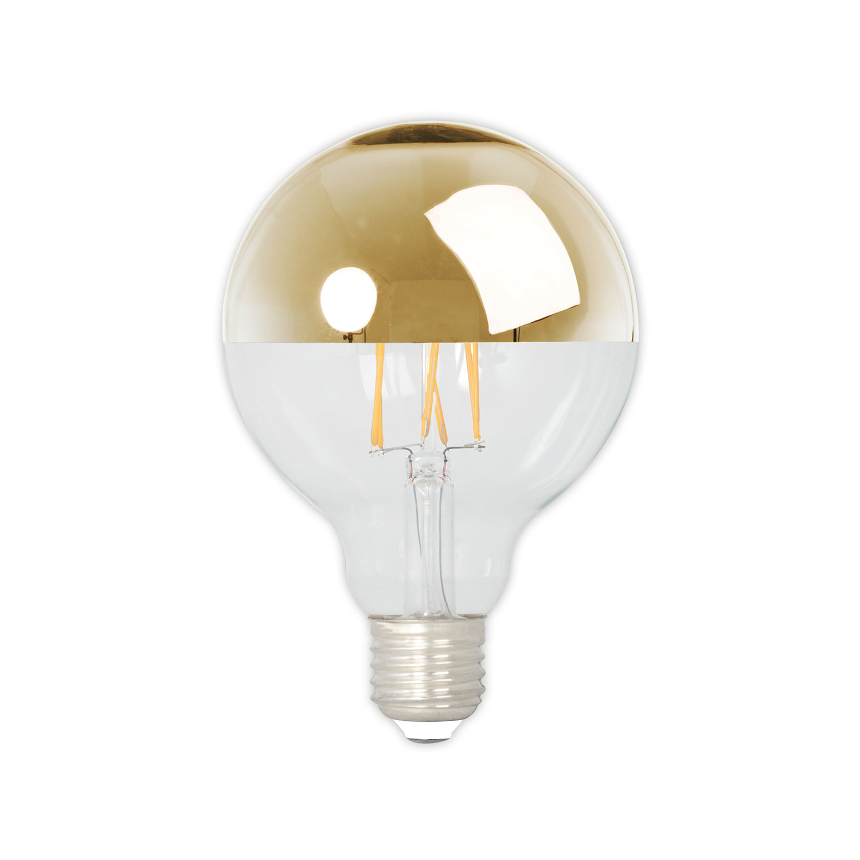 Top Mirror Gold Light Bulb D95 E27 4W
