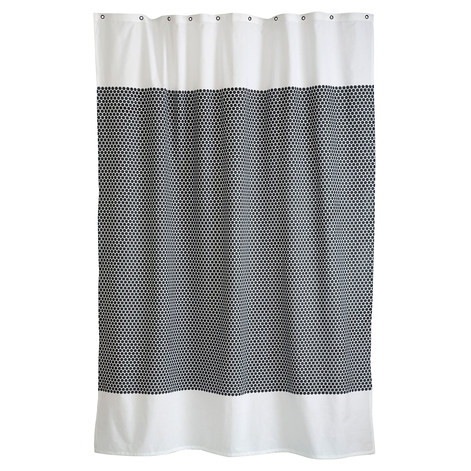 Grid Shower Curtain 150x200cm Black f White Mette Ditmer