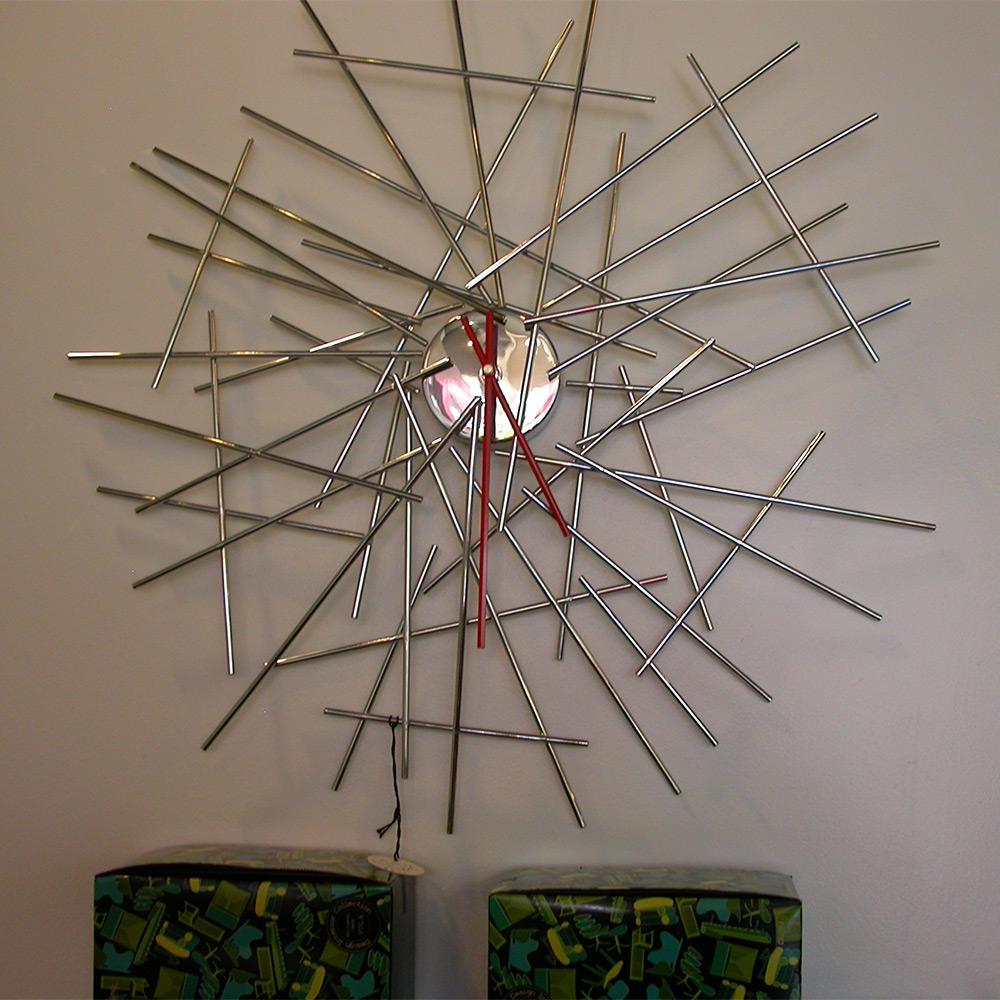 blow up wall clock campana fratelli alessi. Black Bedroom Furniture Sets. Home Design Ideas