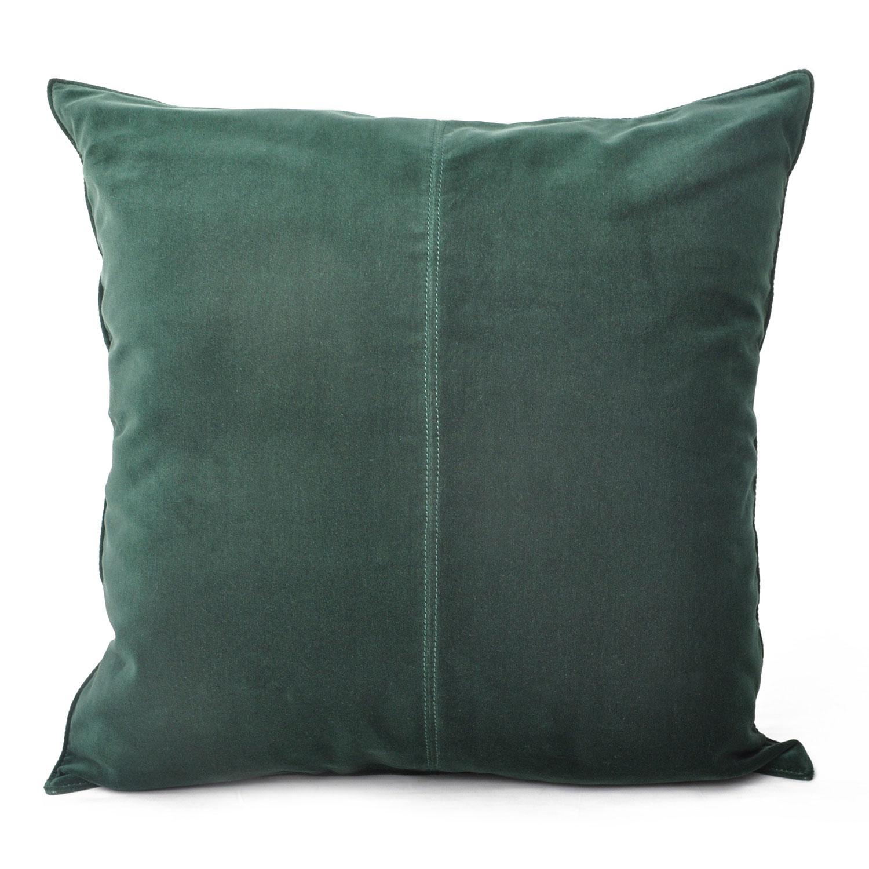 Velvet Cushion Cover 50x50cm, Dark Green