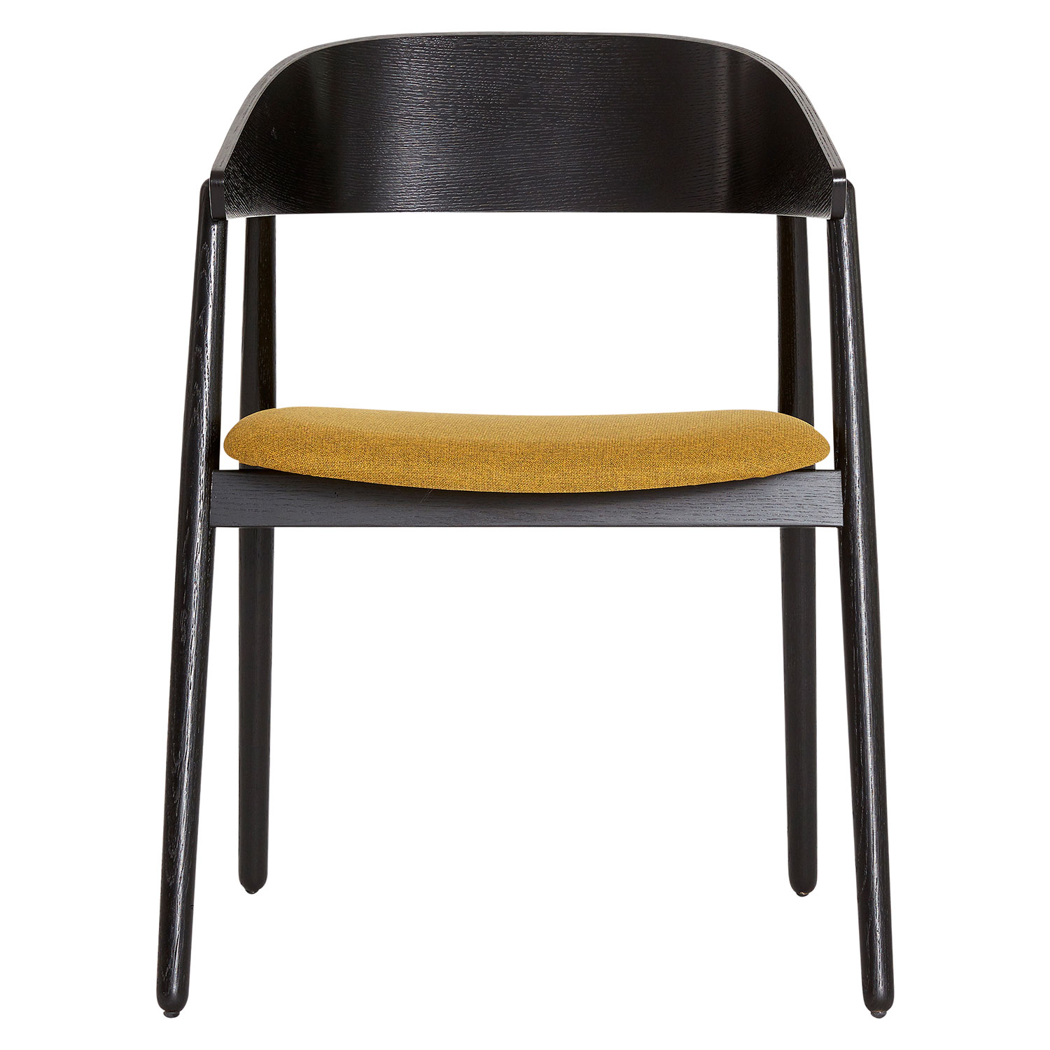 AC2 Armchair, Black Oak/Step Melange Yellow