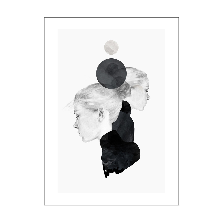 Black Marble Poster 30x40cm