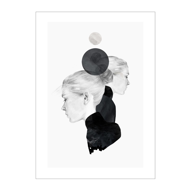 Black Marble Poster 50x70cm
