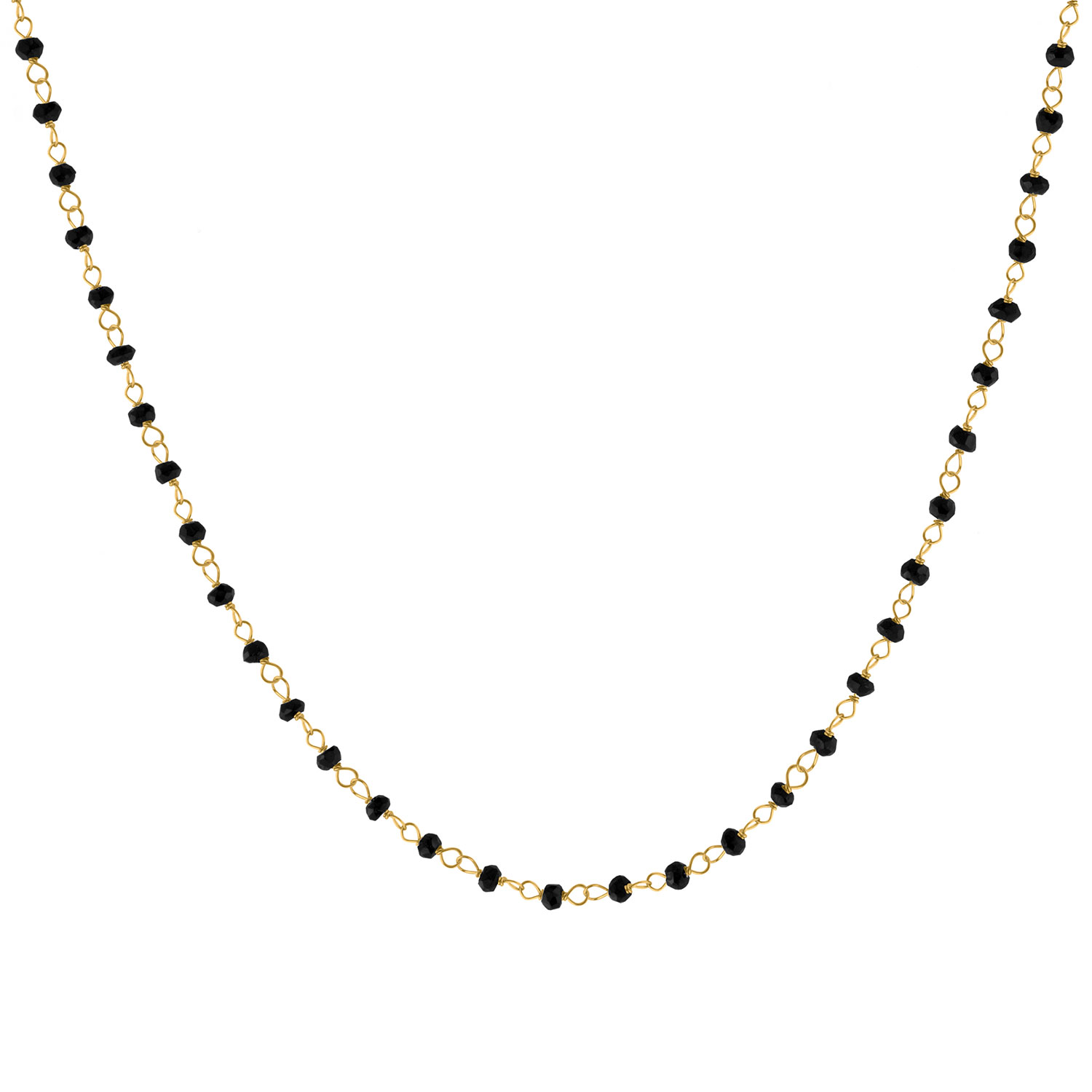 Rough Stone Necklace, Gold/Onyx