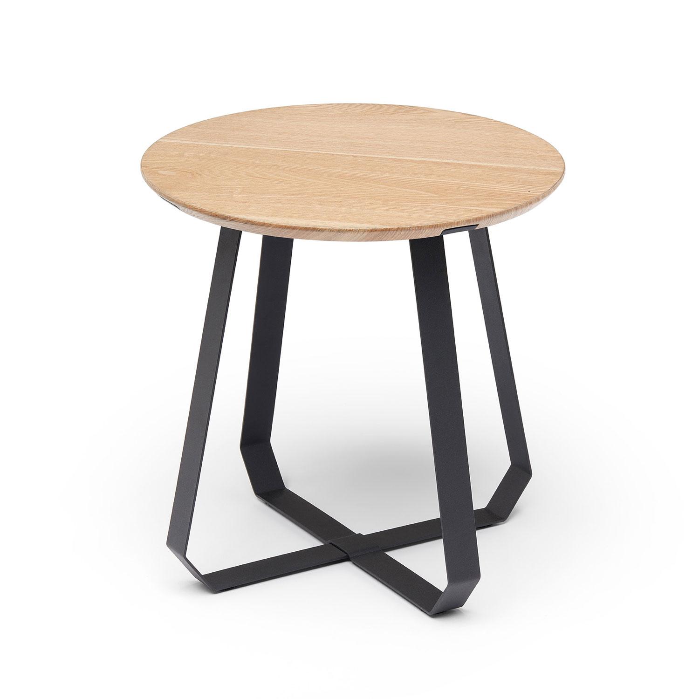 Shunan Side Table 46, Black/Ash