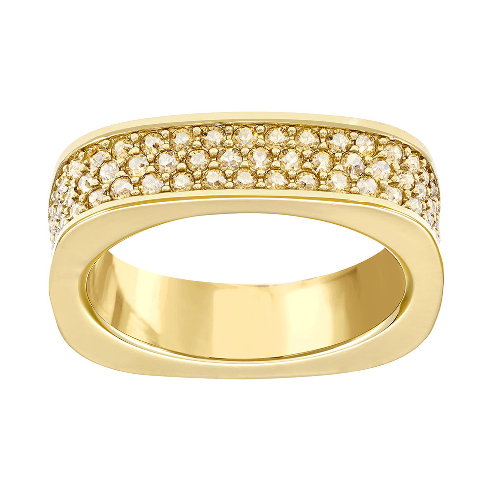 Vio Ring, Gold/Crystal