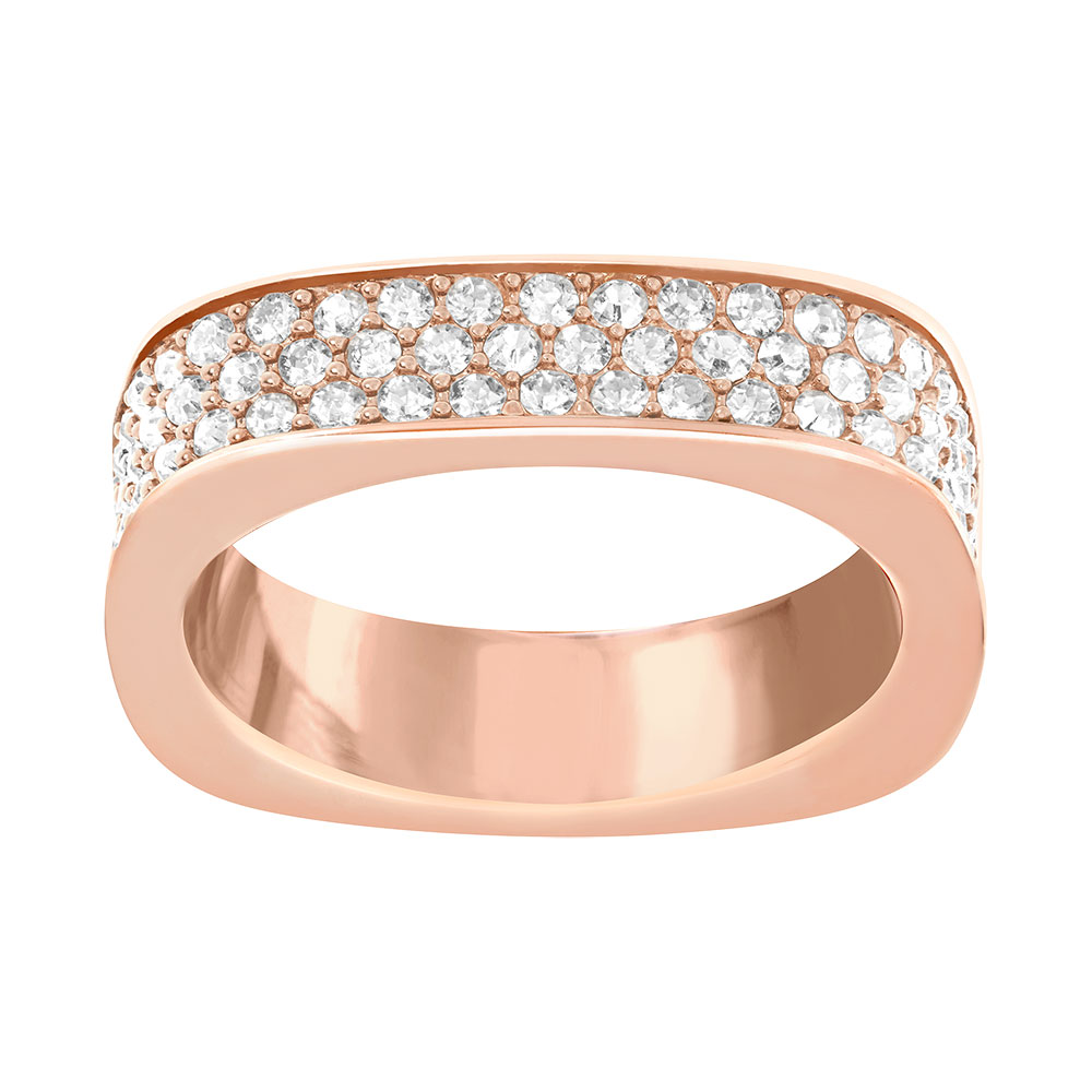 Vio Ring, Rose Gold/Crystal