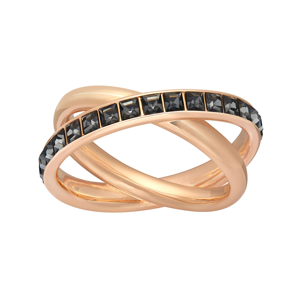 Dynamic Ring, Rose Gold/Crystal