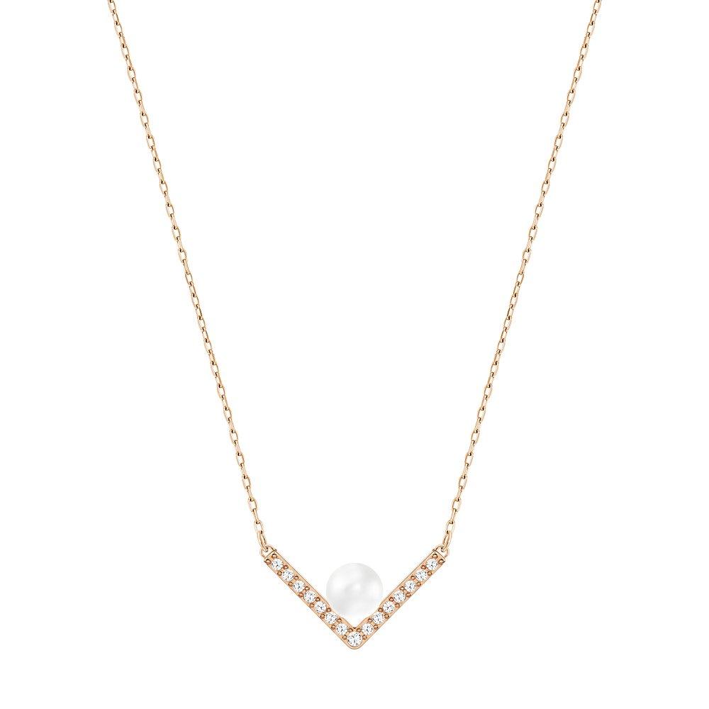 Edify Pendant 38cm S Crystal, Rosegold