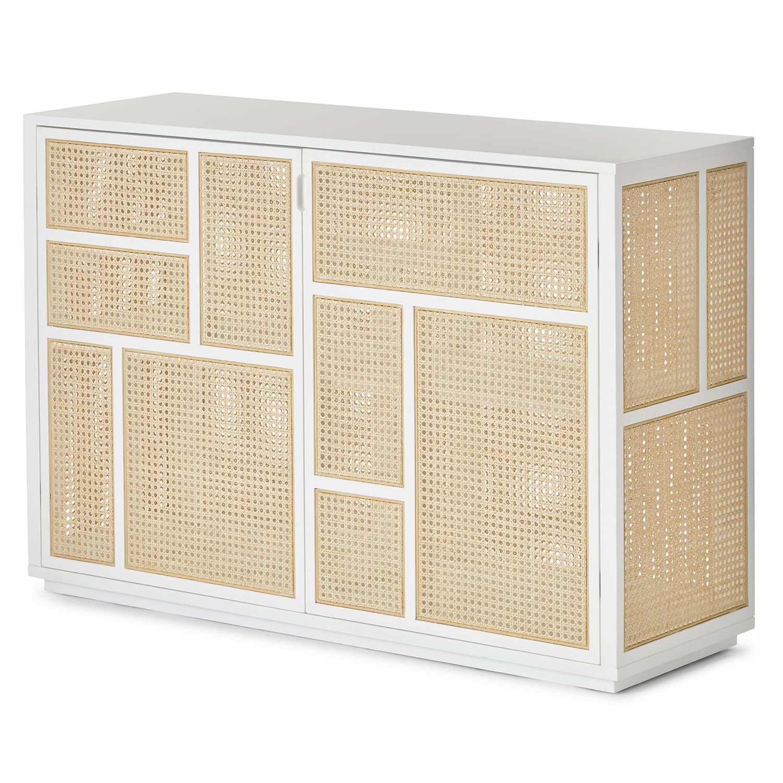 Air Sideboard, White/Cane