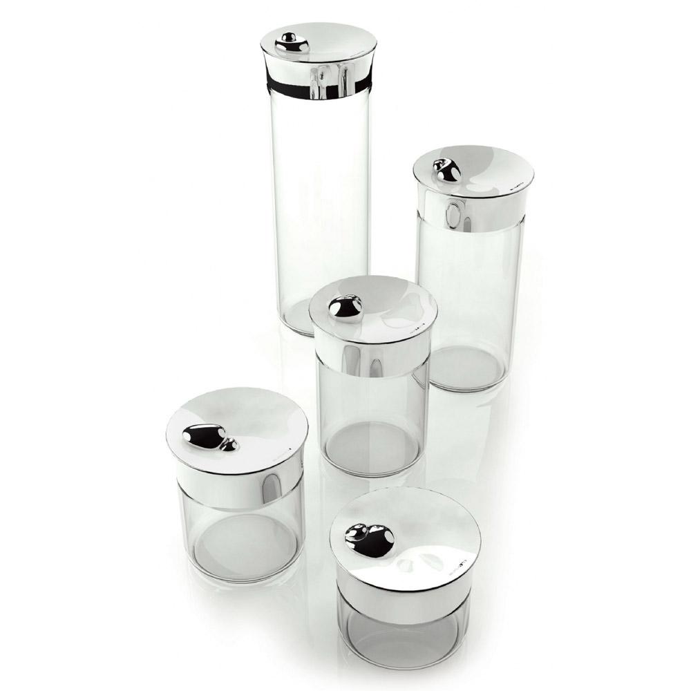 Acqua Tarro de vidrio c. tapa,acero inox., 100cl
