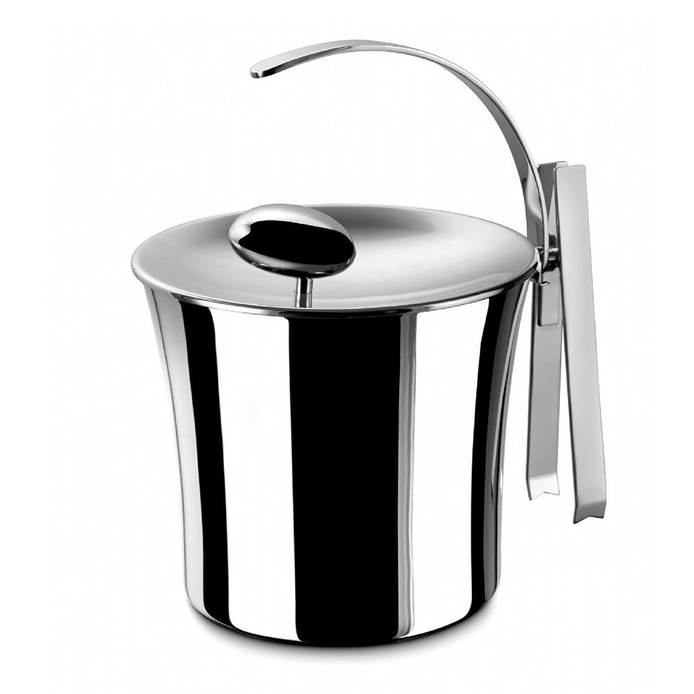 Acqua Ice Bucket incl. Tong, Stainless steel