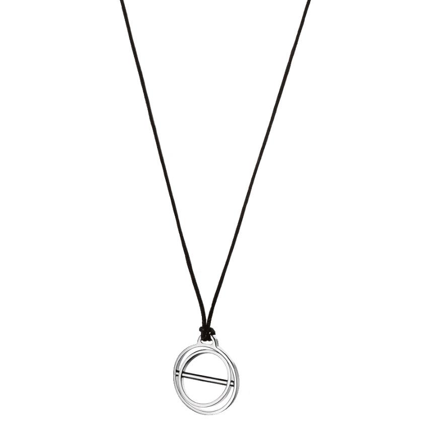 Volte-face Cord Pendant, Sterling Silver